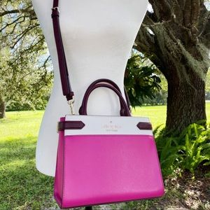 🌸💞Kate Spade Color Block Satchel Pink Multi